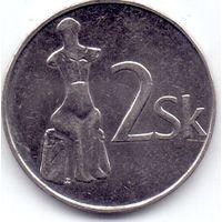 Сровакия, 2 кроны 1993 - 2007 гг. (Список внутри).