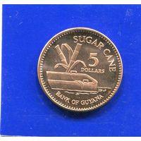 Гайана 5 долларов 2008 UNC