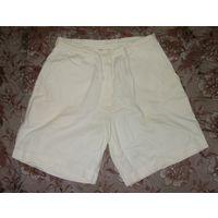 Белые шортики из тонкого джинса р.44