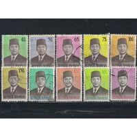 Индонезия Респ 1974-76 Сухарто Стандарт Полная #780-5,846-9