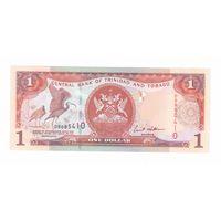 1 доллар 2002 года Тринтдад и Тобаго широкая полоса, красные цифры 2