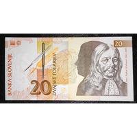 РАСПРОДАЖА С 1 РУБЛЯ!!! Словения 20 толаров 1992 год UNC