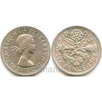 Великобритания 6 pence 1966