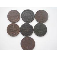 2 копейки 1811-1813 7 штук.