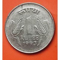 21-23 Индия, 1 рупия 1993 г. (Калькутта)
