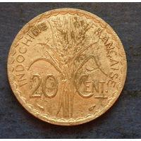 Французский Индокитай 20 центов 1939 немагнитная