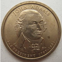 США 1 доллар 2007 г. (P) 2-й Президент США Джон Адамс (a)