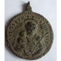 Медальон католический довольно старый