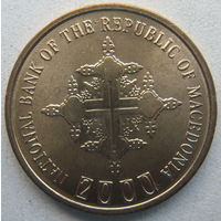 Македония 1 денар 2000 г. 2000 лет Христианству