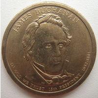 США 1 доллар 2010 г. 15-й Президент США Джеймс Бьюкенен