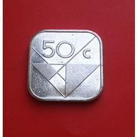 29-12 Аруба, 50 центов 1991 г. Единственное предложение монеты данного года на АУ