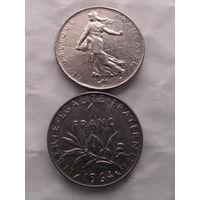 1 франк франции 1964г.  распродажа
