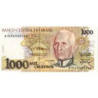 Бразилия, 1000 крузейро, 1990 г., UNC