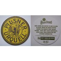 Подставка под пиво Pilsner Urquell.