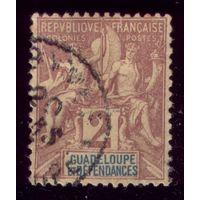 1 марка 1892 год Гваделупа 28