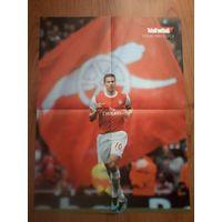 Плакаты футболистов из клубов Английской Премьер Лиги(Арсенал)часть1