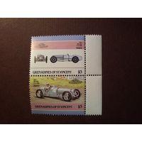 Сент-Винсент и Гренадины 1986 г.Авто.Delage 1.5 литр.