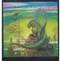 Танзания 1994 Динозавры Фауна Блок **