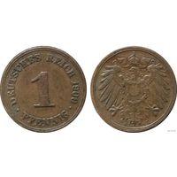 YS: Германия, Рейх, 1 пфенниг 1900A, KM# 10 (2)