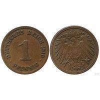YS: Германия, Рейх, 1 пфенниг 1910D, KM# 10 (2)