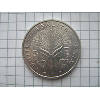 Джибути 5 франков 1991г.UNC