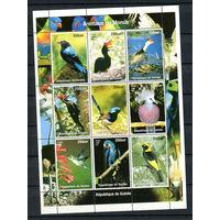 Гвинея - 1998 - Птицы - малый лист - 9 марок. MNH.