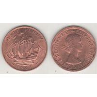 Великобритания _km896 1/2 пенни 1967 год (f14)*