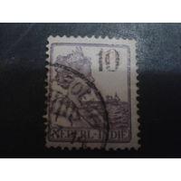 Нидерландская Индия 1928 Колония королева, надпечатка 10 на 12 1/2