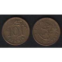 Финляндия km46 10 пенни 1979 год (K) (f32)(b04)n*