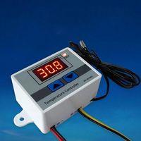Цифровой термостат XH-W3001 220V 10A, регулятор температуры светодиодный, терморегулятор датчик в комплекте