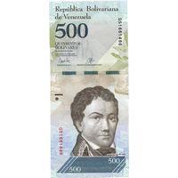 Венесуэла, 500 боливаров, 2017 г., UNC