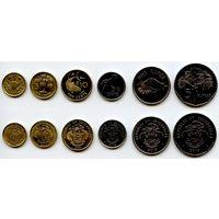 Сейшельские Острова 1, 5, 10, 25 центов 1, 5 рупий 2004, 2007, 2010, 2012 г. (Фауна, Флора, Животные, Пальма) Сейшелы
