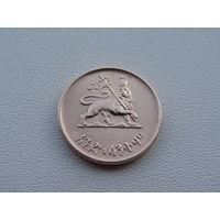 """Эфиопия. 1 цент 1944 год KM#32  """"Император Хайле Селассие I (1944 - 1976)"""""""