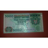 Банкнота 5000 цеди  Гана  2003