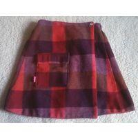 На 5-7 лет оригинальная юбка ELLE на запАхе, длина 35см