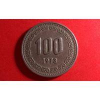 100 вон 1973. Южная Корея.