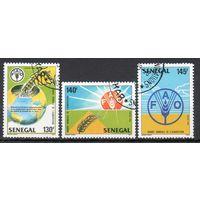 Продовольствие Сенегал 1987 год серия из 3-х марок