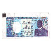 Фантики банкноты мира. 1000 франков Центральноафриканская Республика. Возможен обмен