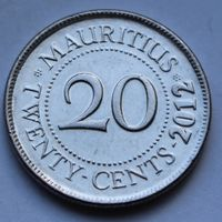 Маврикий, 20 центов 2012 г