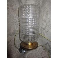 Старинная настольная лампа . Светильник . Бронза .
