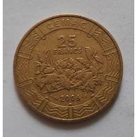 25 франков 2006 г. Центральная Африка