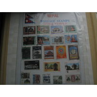 Марки - Непал архитектура религия культура искусство 21 марка