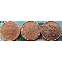Лот монет по 10 евроцентов.