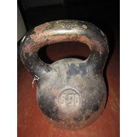 Гиря старинная спортивная 16 кг
