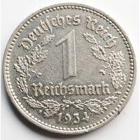 1 марка (рейхсмарка) 1934 А. Германия.