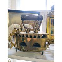 Старинный утюг из бронзы редкий клейма