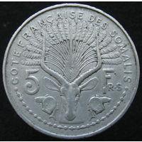 Фр. Сомали 5 франков 1948 (140)