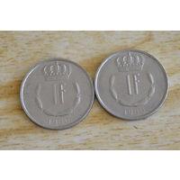 Люксембург 1 франк 1980