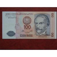 Перу 100  интис 1987 года UNC.