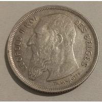Бельгия 2 франка 1909 года belges